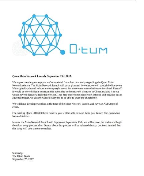 qtum about, qtum, Qtum Blockchain, Qtum Main-net Release